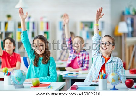 Clever girls - stock photo