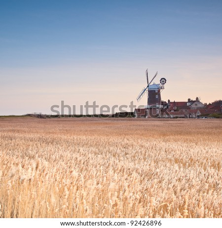 Cley next the sea windmill on the Norfolk coast in England