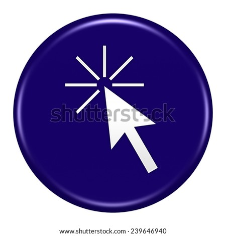 click here button isolated - stock photo