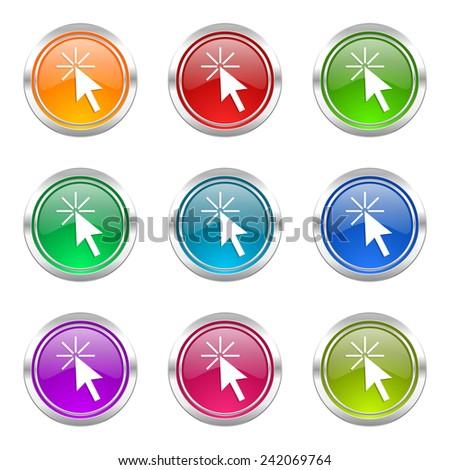 click here icons set   - stock photo