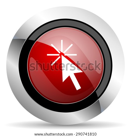 click here red glossy web icon original modern design for web and mobile app on white background  - stock photo