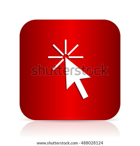 click here red square modern design icon