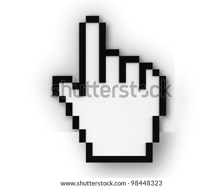 click it symbol isolated on white background