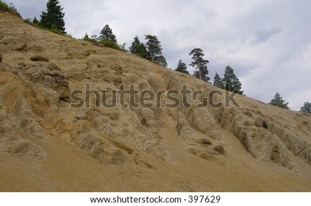 Cliff Eroded by Water