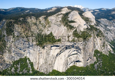 Cliff Face at Yosemite National Park - stock photo
