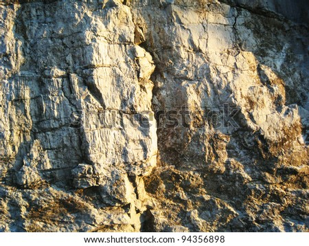 Cliff face close up in France. - stock photo