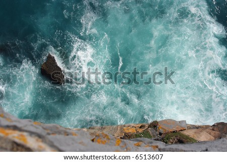 Cliff In Ireland From Above - stock photo
