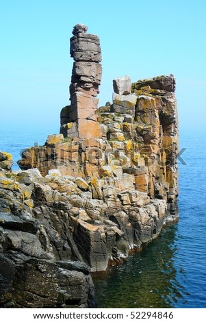 Cliff on Bornholm - stock photo