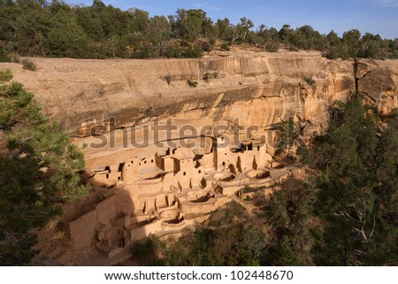 Cliff Palace, Mesa Verde National Park - stock photo