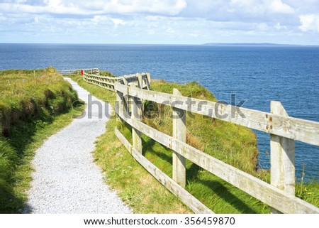 cliff walk on the wild atlantic way in ballybunion county kerry ireland