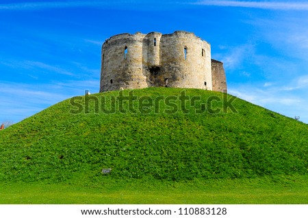 Clifford's Tower in York UK - stock photo