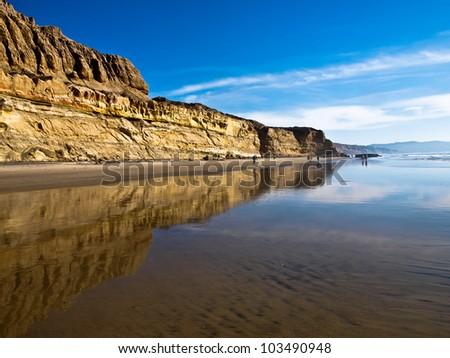 Cliffs along the Shore - stock photo