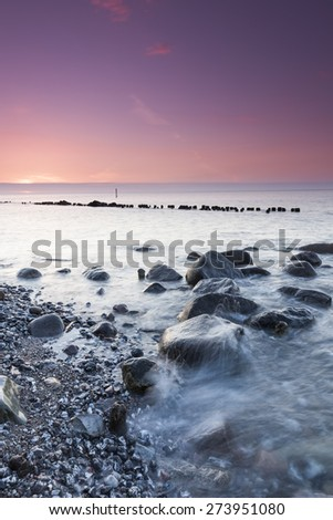 Cliffs and coastline in the national park jasmund of Rugen Island - stock photo