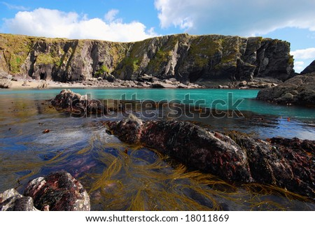cliffs and rocks - stock photo