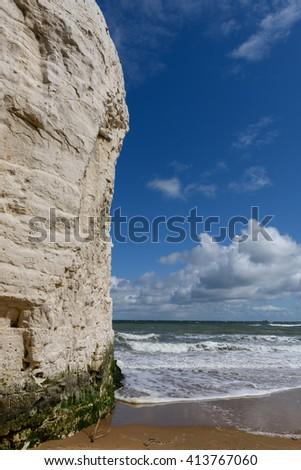 Cliffs in Botany Bay, Margate, Kent, UK - stock photo