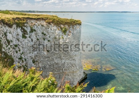 Cliffs in Dorset near Studland - stock photo