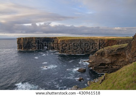 Cliffs of Kilkee in Co. Clare, Ireland - stock photo