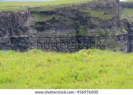 Cliffs of Moher, County Clare, Republic of Ireland - stock photo