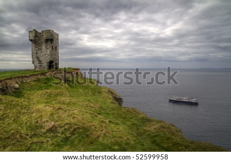 Cliffs of Moher cruise - stock photo