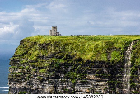 Cliffs of Moher in County Clare, Ireland - stock photo
