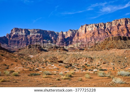 Cliffs of the Vermilion  Cliffs National Monument in Arizona - stock photo