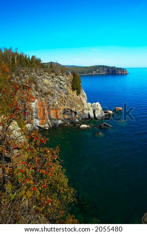 Cliffs on Lake Superior North Shore. More with keyword group15