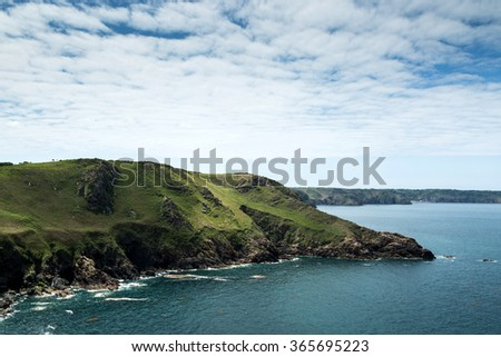 Cliffs on the Island of Jersey in the English Channel