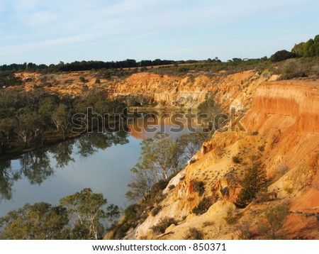 Cliffs Overlooking the Murray River - stock photo