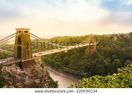 Cliffton Bridge - stock photo