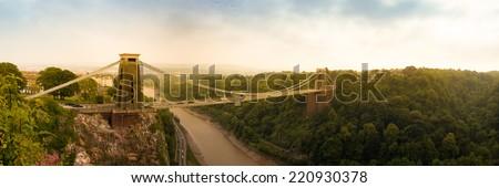 Cliffton Bridge, Bristol England - stock photo
