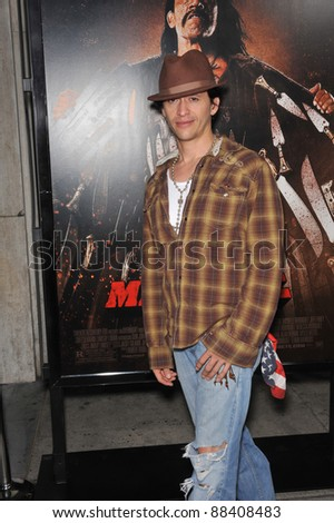 "Clifton Collins Jr. at the Los Angeles premiere of ""Machete"" at The Orpheum Theatre. August 25, 2010  Los Angeles, CA Picture: Paul Smith / Featureflash"