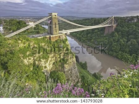Clifton Suspension Bridge, Bristol, England, UK. - stock photo