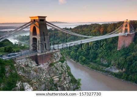Clifton Suspension Bridge, Bristol, UK - stock photo