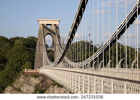 Clifton Suspension Bridge by Brunel in Bristol, England, UK  - stock photo