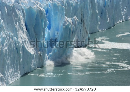 Climate Change - Antarctic Melting Glacier in a Global Warming Environment - stock photo