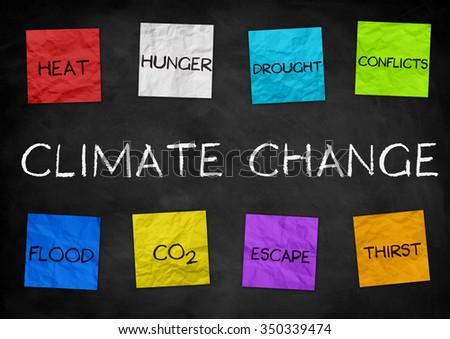 Climate Change - illustration background - stock photo