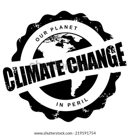 Climate change stamp  - stock photo