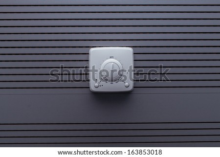 Climate control panel ventilation - stock photo