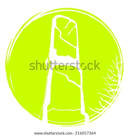 Climbing logo T-shirt - stock photo