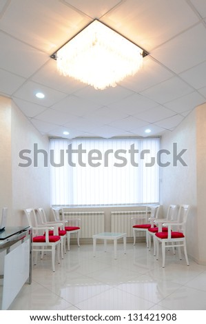Clinical interior or reception - waiting room - stock photo
