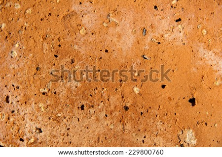 clinker brick wall detail - background and afterimage - stock photo