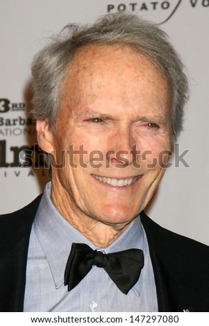 Clint Eastwood at the  Performance of the Year Award to Angelina Jolie Santa Barbara International Film Festival Santa Barbara, CA February 2, 2008 - stock photo