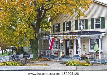 CLINTON, NEW JERSEY/USA  OCTOBER 23: A rural country store on October 23 2012 in Clinton New Jersey. Clinton is a historic town in Hunterton County NJ and a popular tourist destination.