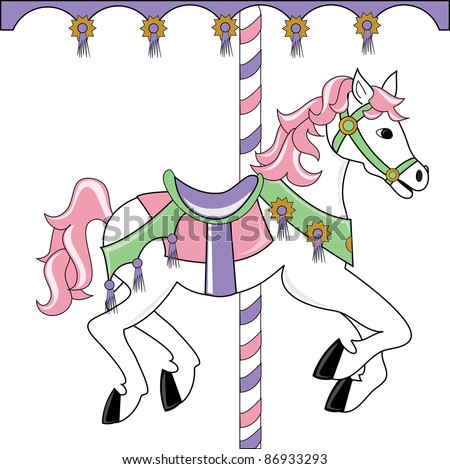 Carousel horse silhouette clip art - photo#22