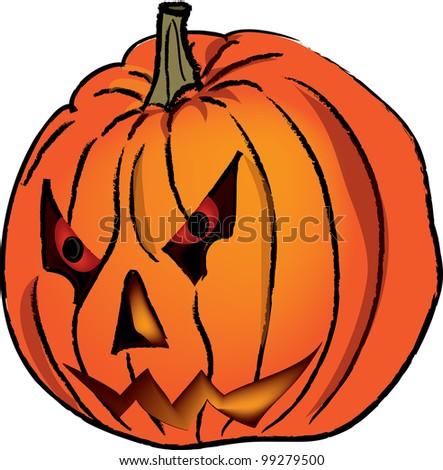 clip art illustration mean faced halloween stock illustration rh shutterstock com halloween pumpkin clipart free happy halloween pumpkin clipart