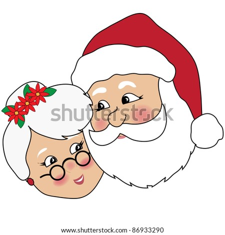 clip art illustration mr mrs claus stock illustration 86933290 rh shutterstock com mrs claus clipart free