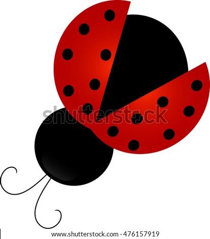 clip art image cute ladybug stock illustration 476157919 shutterstock rh shutterstock com