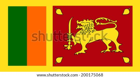 Clip Art National Flag Of Sri Lanka - stock photo