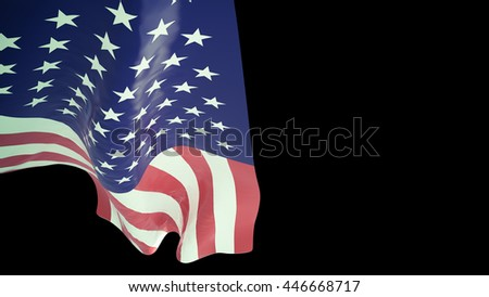 Clip-art USA FLAG .black background