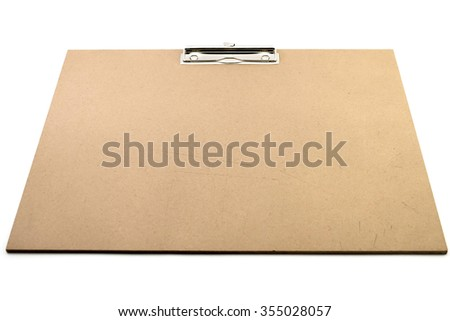 clip board on the white background